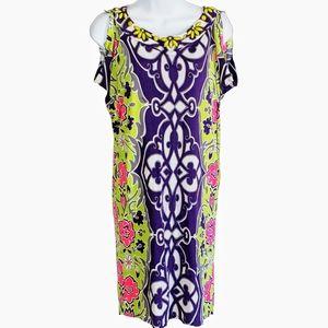Hale Bob Women's Shift Dress Floral Med Jeweled